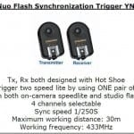 Essential Studio Equipment : YongNuo Flash Synchronization Trigger YN-04II