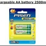 Essential Studio Equipment : Pisen Rechargeable AA Battery 2500mAh ( 2pcs )