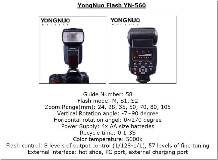 YongNuo YN-560 summary