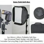 Essential Studio Equipment : Easy Fold Soft Box ( 60 cm x 60 cm ) and ( 80 cm x 80 cm )