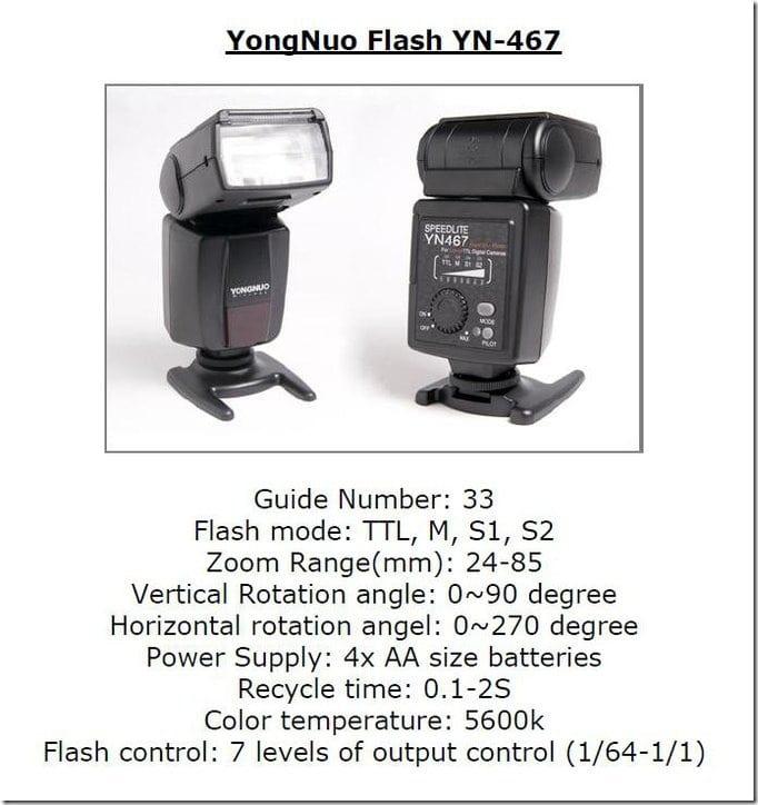 yongnuo yn-467 general