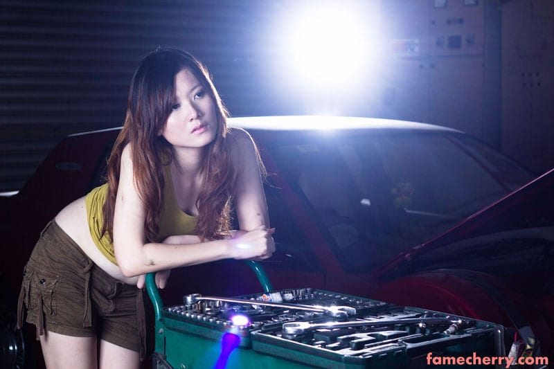 Sexy Mechanic Girl