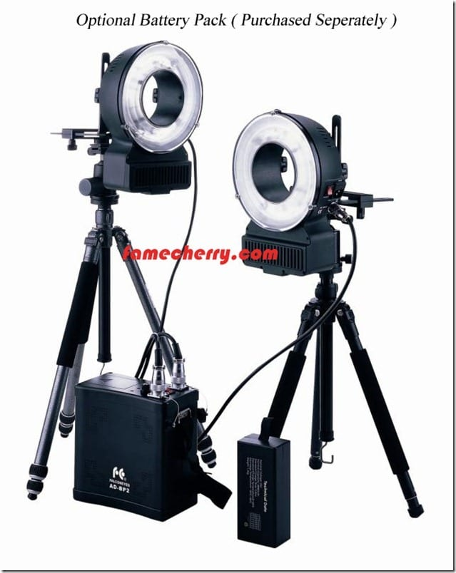 400w ringflash with battery pack