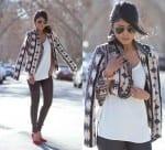 Fashionista now the kimono inspired fashion trend - Hooi plaid ...