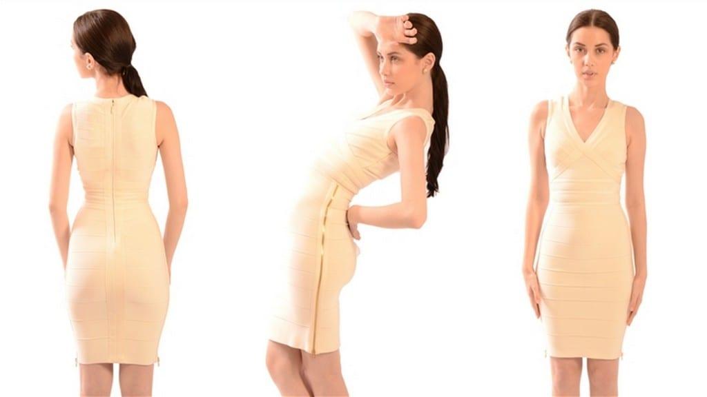Herve Leger Side Zipper Dress