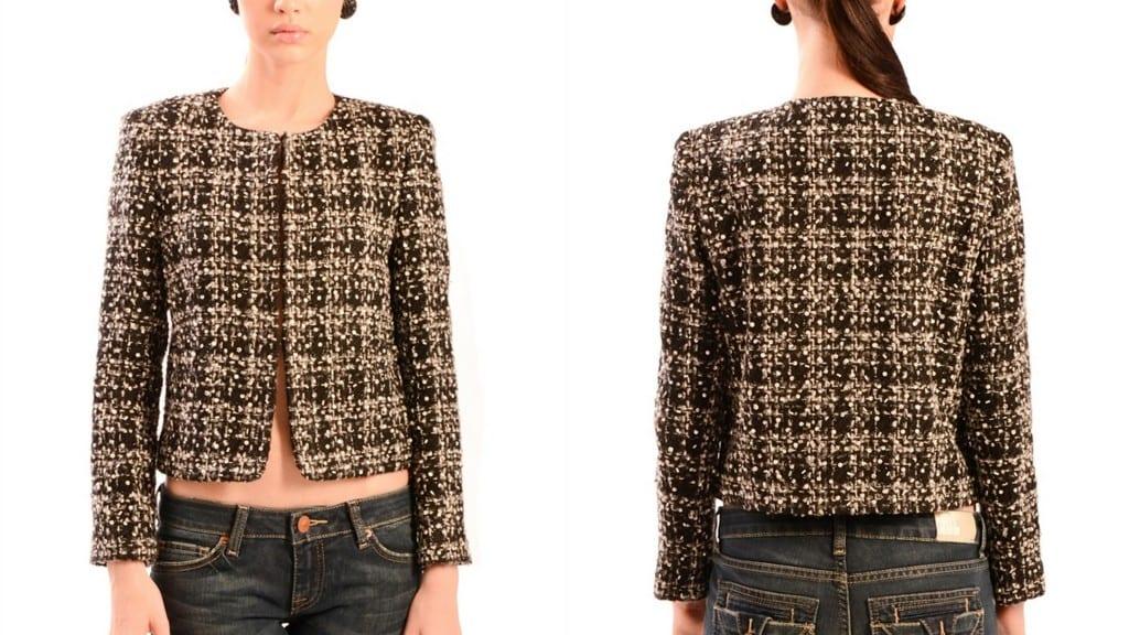 Alice Olivia Alanna Tweed Jacket