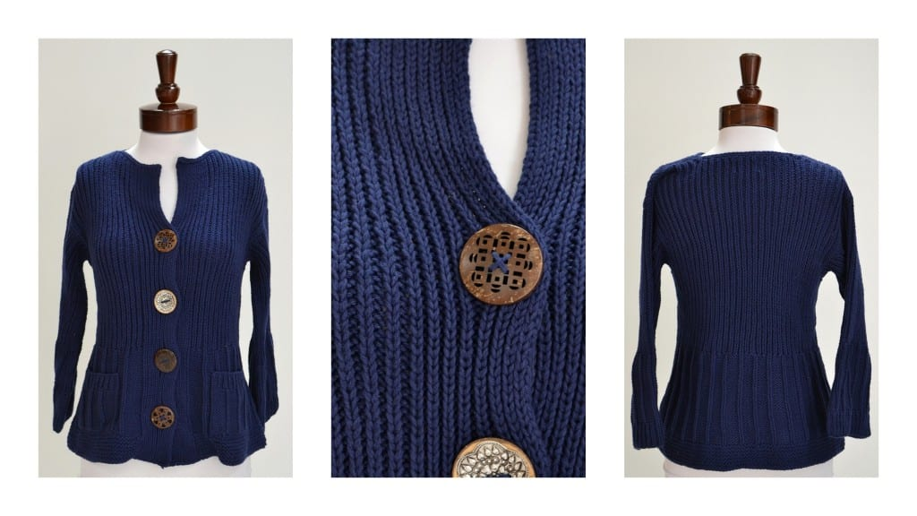 Pure Handknit Big Button Sweater