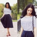 Fashionista NOW: Striped Top & Skirt Combo Fashion Inspiration