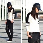 Fashionista NOW: Slouchy Black Leather Pants Fashion Inspiration
