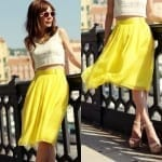 Fashionista NOW: Chic Yellow Skirts For CNY 2014 Fashion Inspiration
