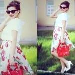 Fashionista NOW: Statement Flared Midi Skirts Fashion Inspiration