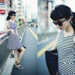 Fashionista NOW: Black And White Striped Dress Fashion Inspiration