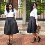 Fashionista NOW: How To Style Black Midi Skirts Fashion Inspiration