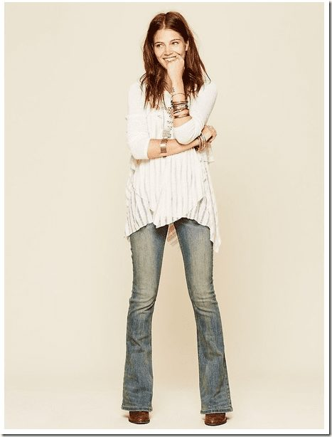 distressed-skinny-flared-jeans