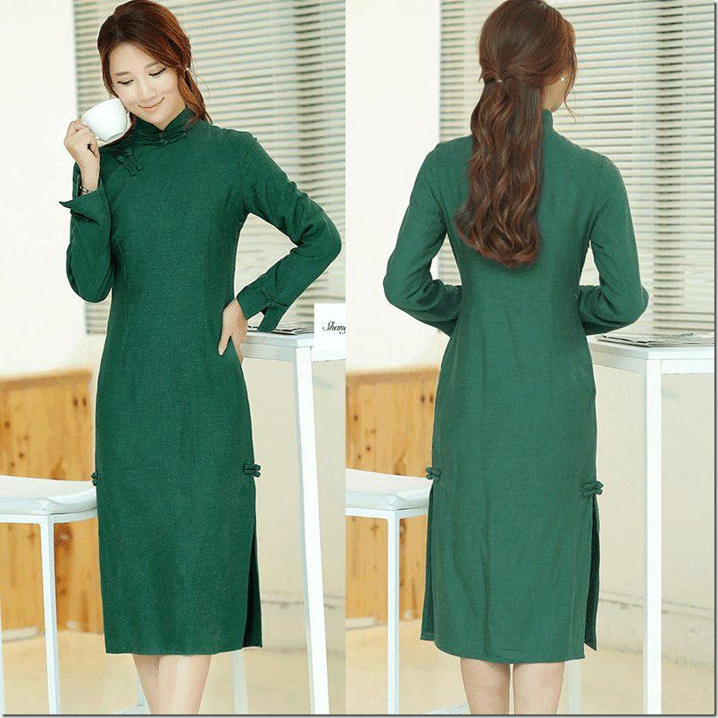 green-long-sleeve-qipao