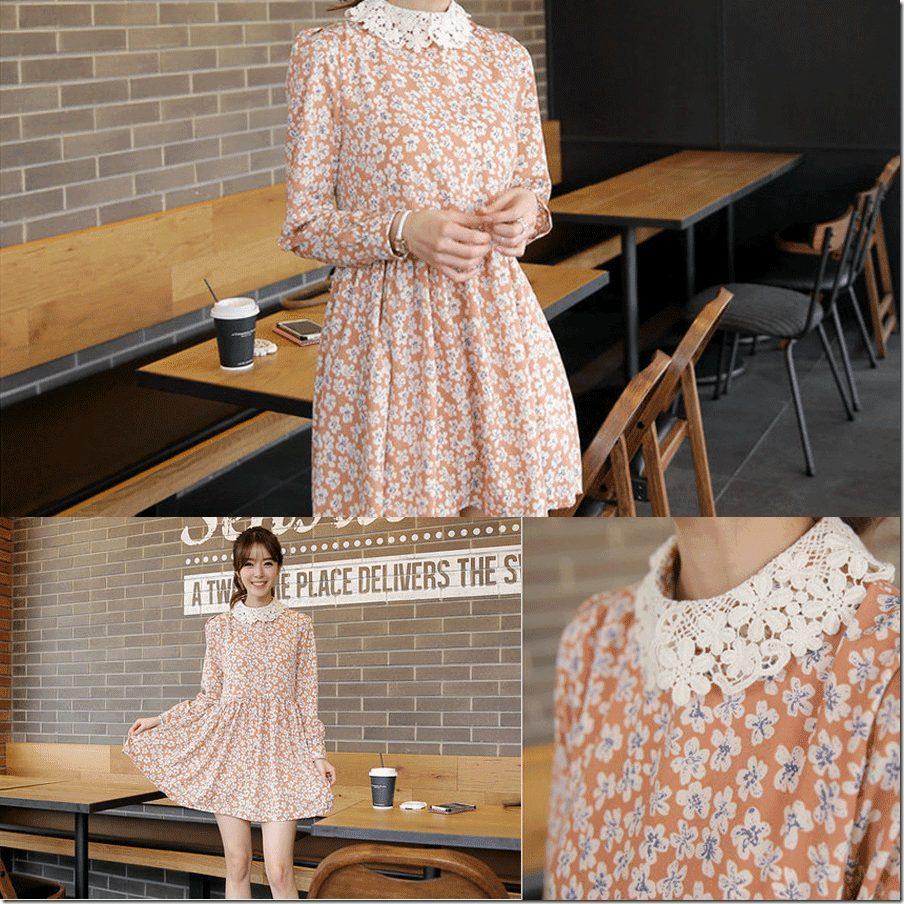 lace-collar-floral-dress
