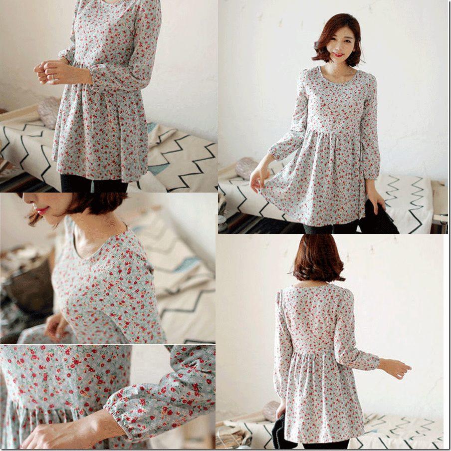 mint-floral-shirred-minidress