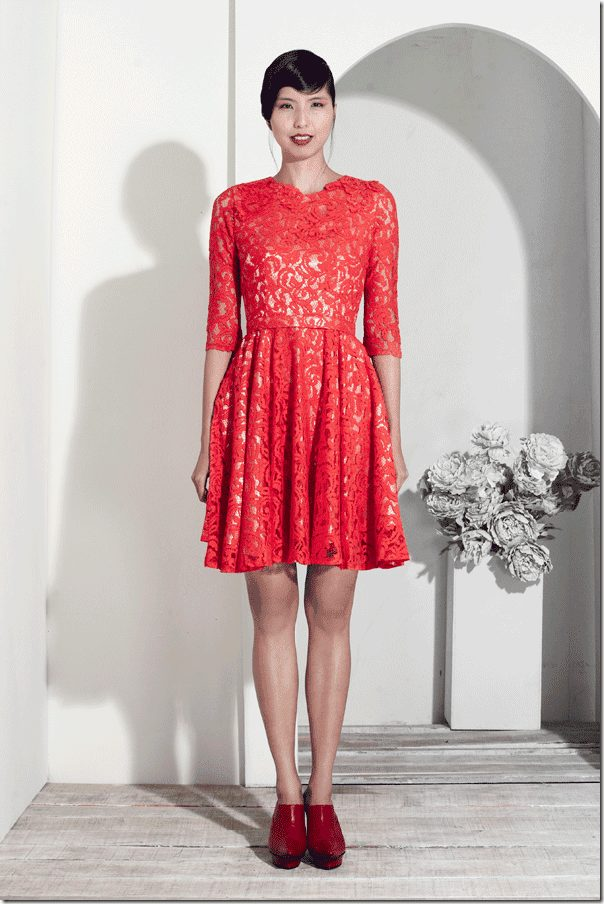 red-lace-flare-dress