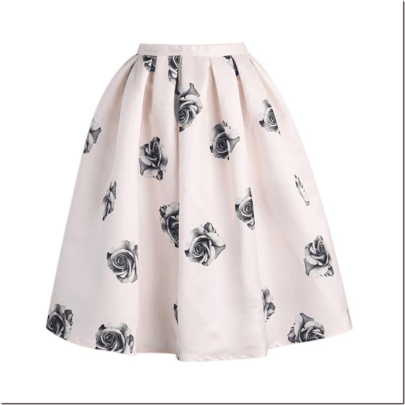 rose-flare-midi-skirt