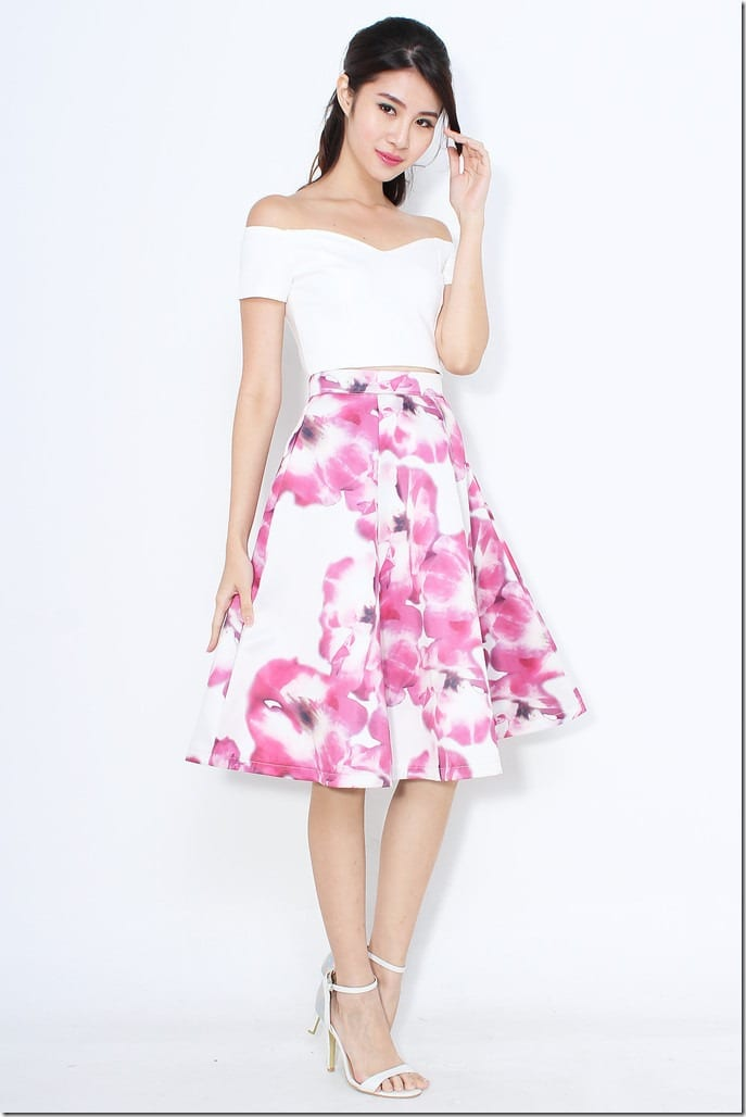 Fashionista NOW: Charming Patterned Midi Skirts For CNY 2015 ...