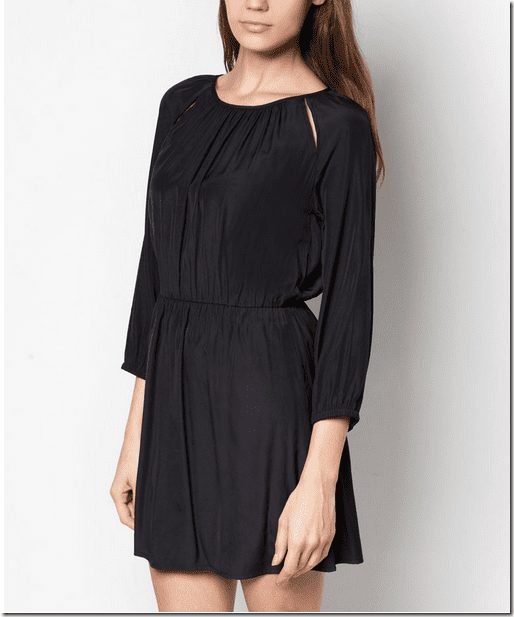 black-peasant-cutout-dress