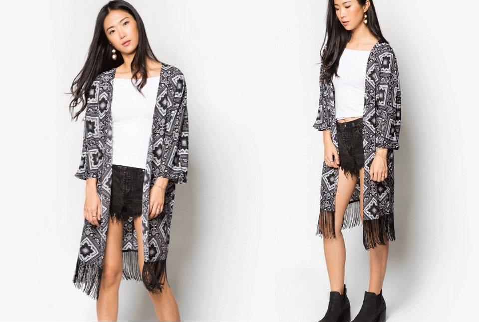 black-white-abstract-fringed-kimono-cardigan