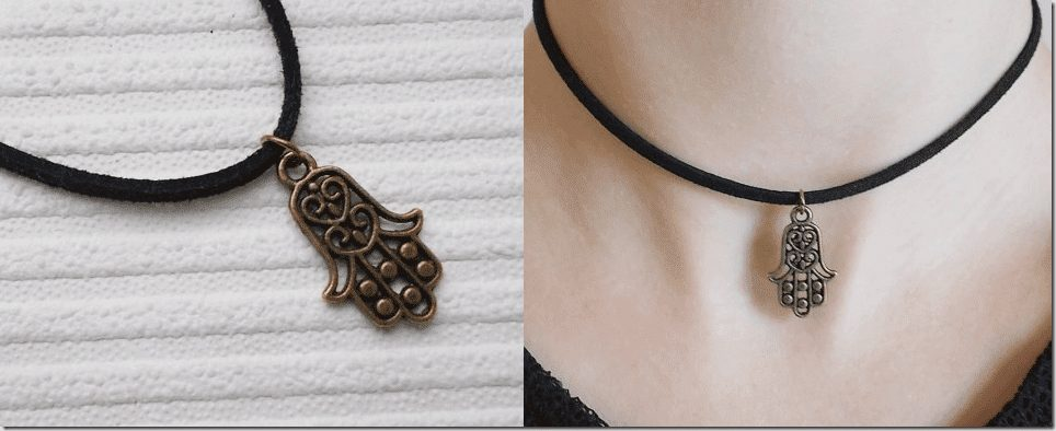 bronze-hamsa-choker-necklace
