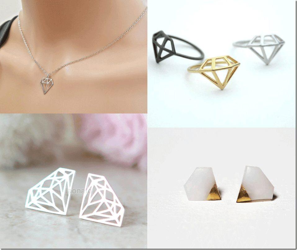 Diamond Shaped Jewelry Trend Fashion Inspiration