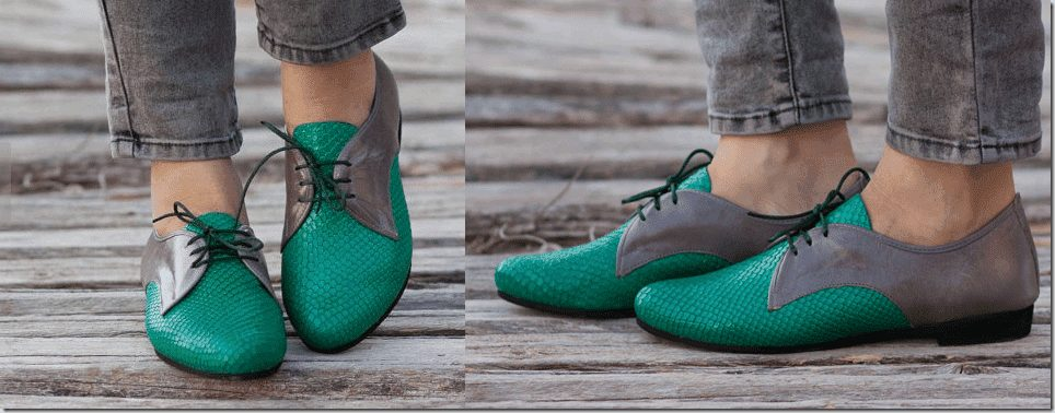 green-grey-leather-oxford-shoes