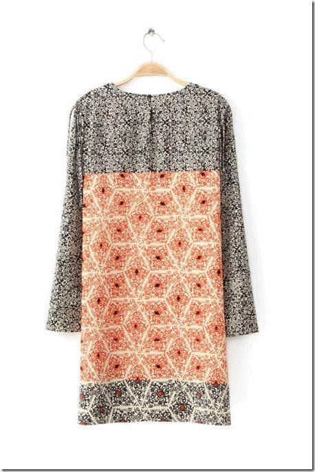 long-sleeve-patterned-dress