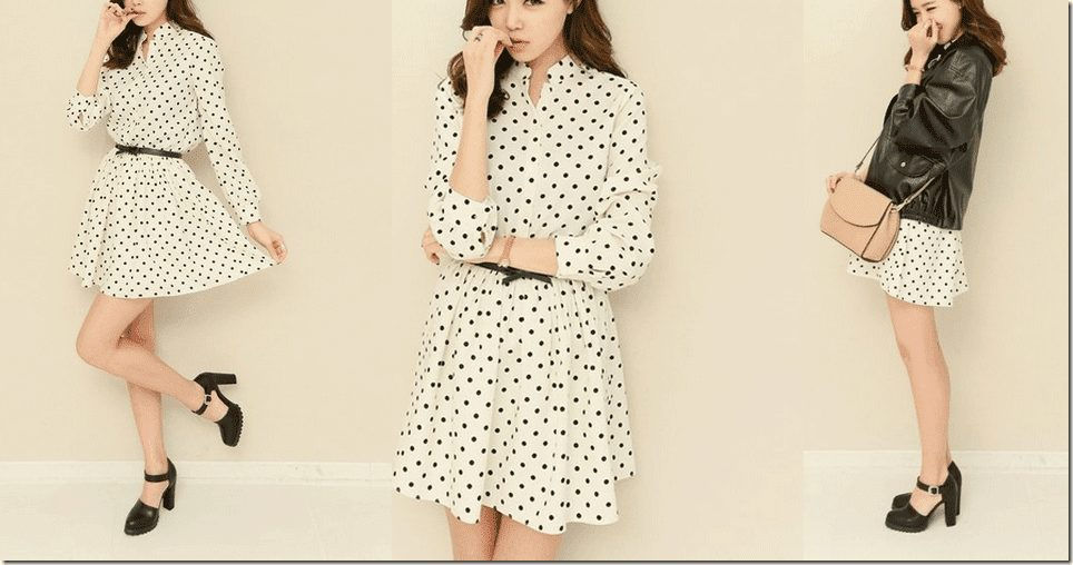 Sweet Polka Dot Dresses For Valentine's 2015 Fashion Inspiration