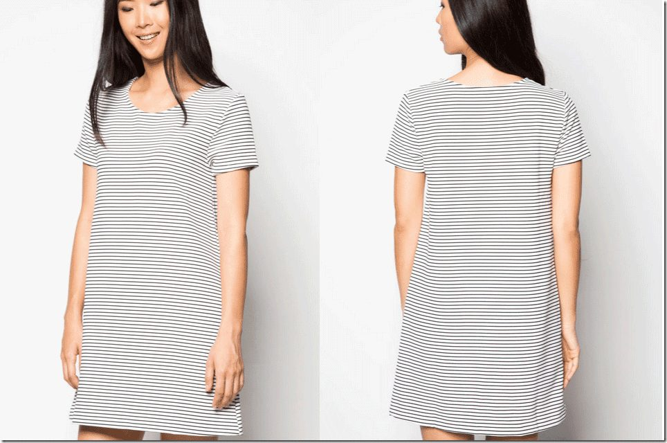 sleeved-striped-dress