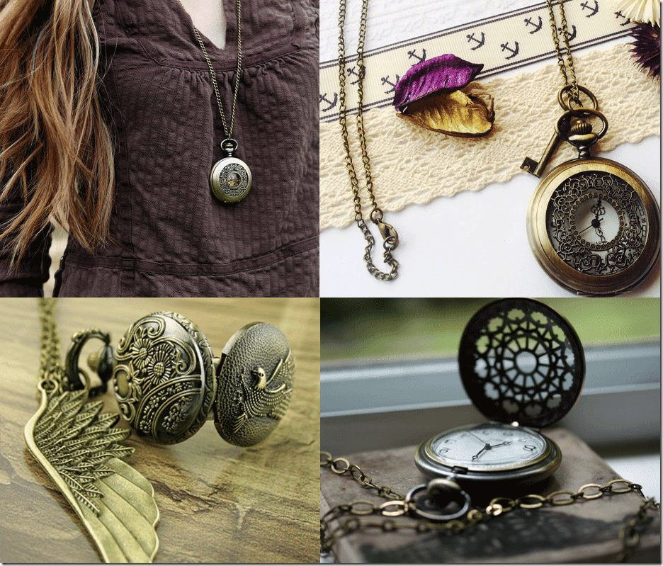 7 Precious Steampunk Pocket Watch Necklaces Fashion Inspiration