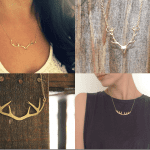 Fashionista NOW: Deer Antler Necklace Fashion Inspiration