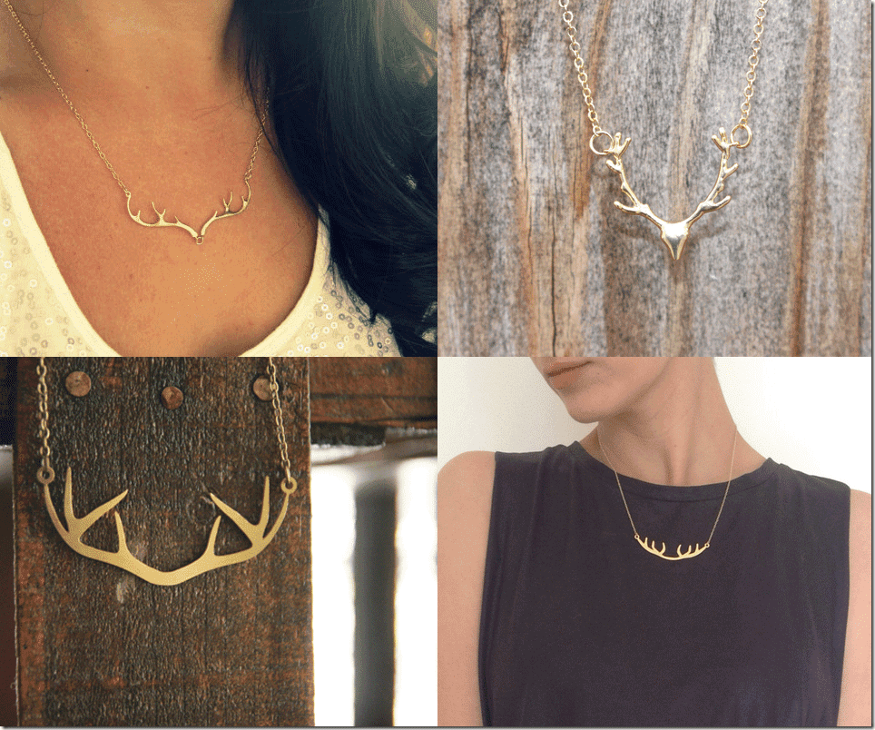 Deer Antler Necklace Fashion Inspiration
