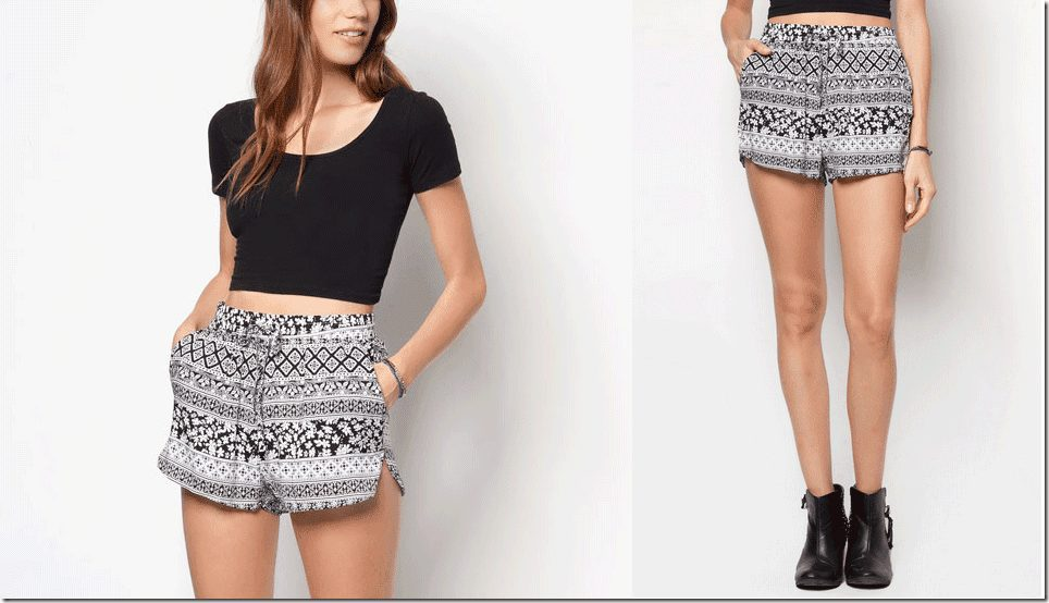 black-white-abstract-shorts