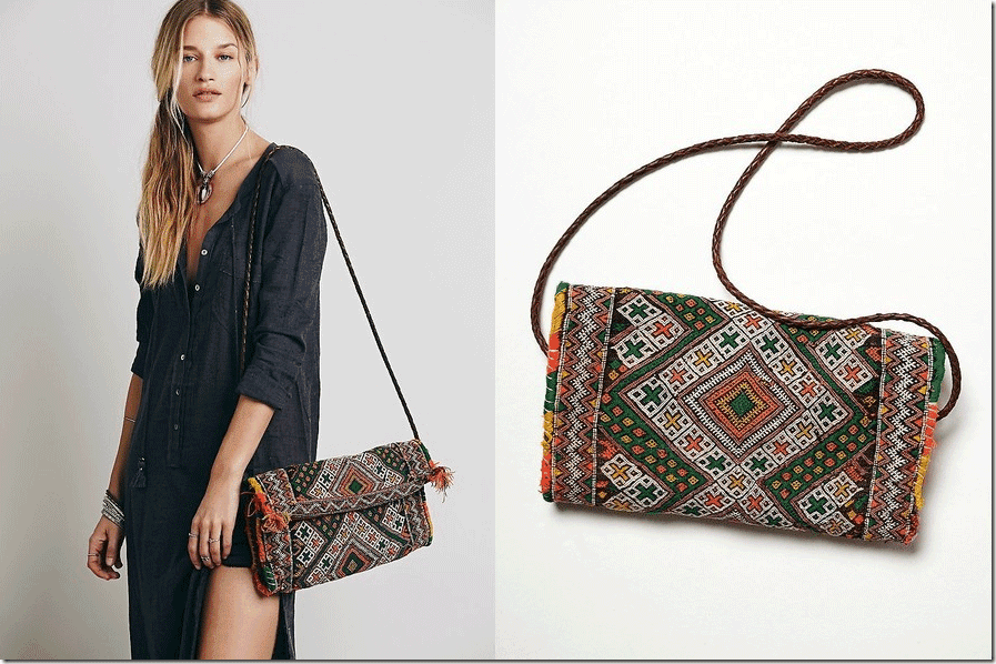 boho-patterned-long-clutch-braid-leather-strap