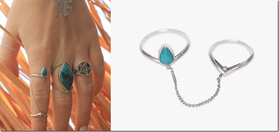 chevron-turquoise-sterling-silver-chain-rings