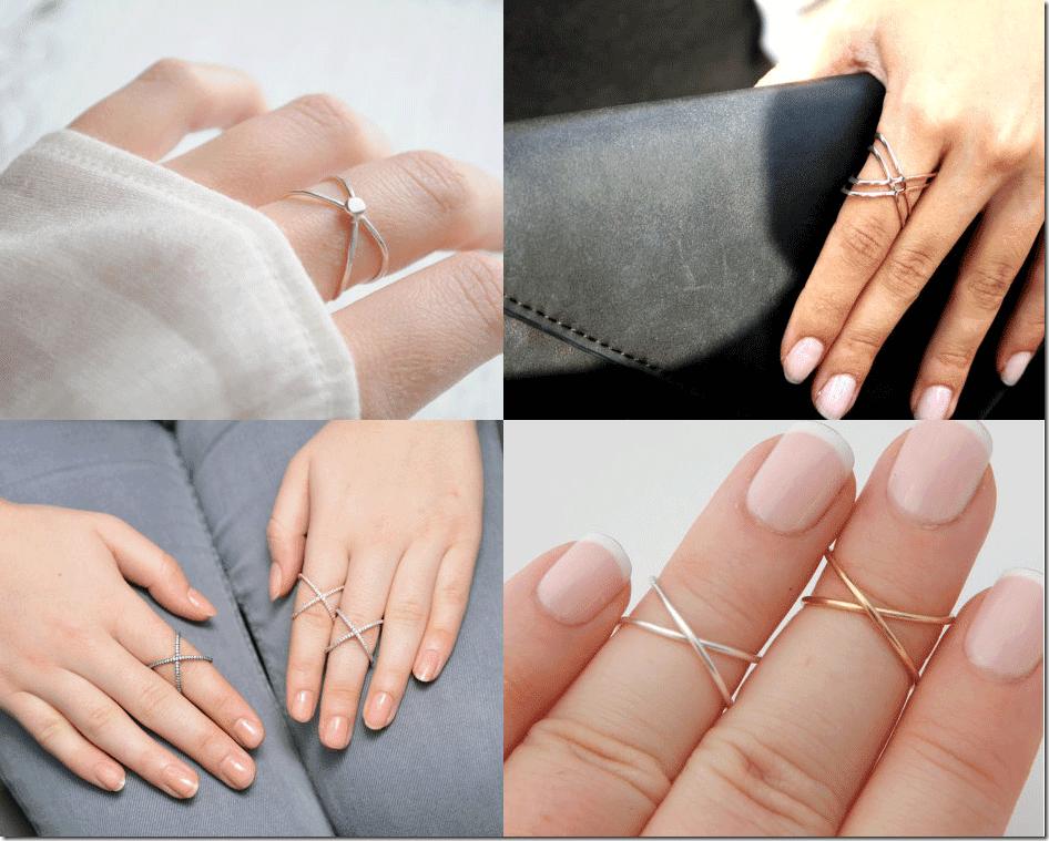 Elegant Criss Cross X Rings Fashion Inspiration