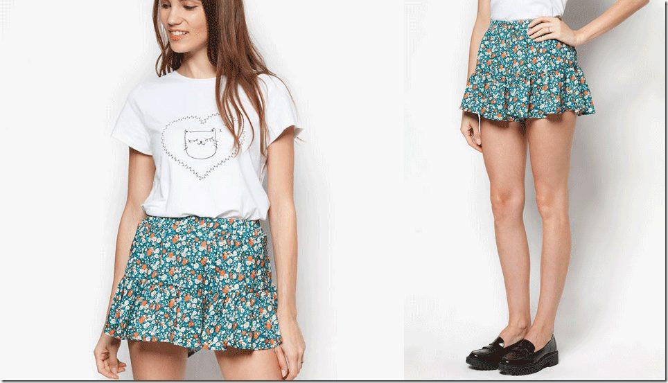 floral-ruffle-shorts