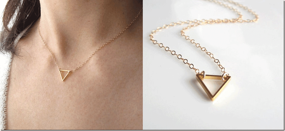 7 geometric chic triangle necklaces fashion inspiration for On the floor meaning