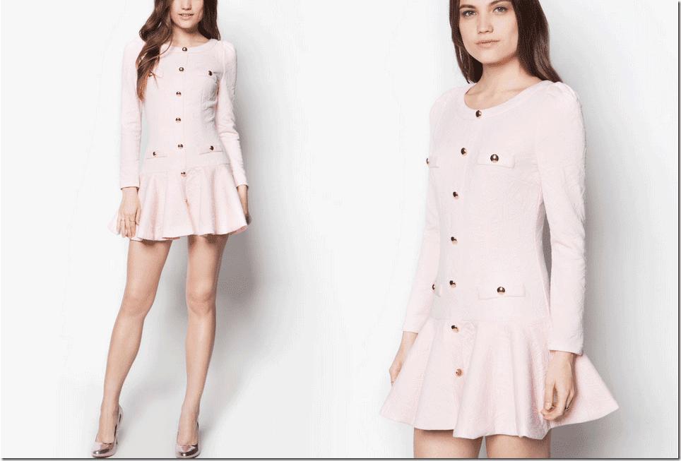 powder-pink-drop-waist-dress-sleeved
