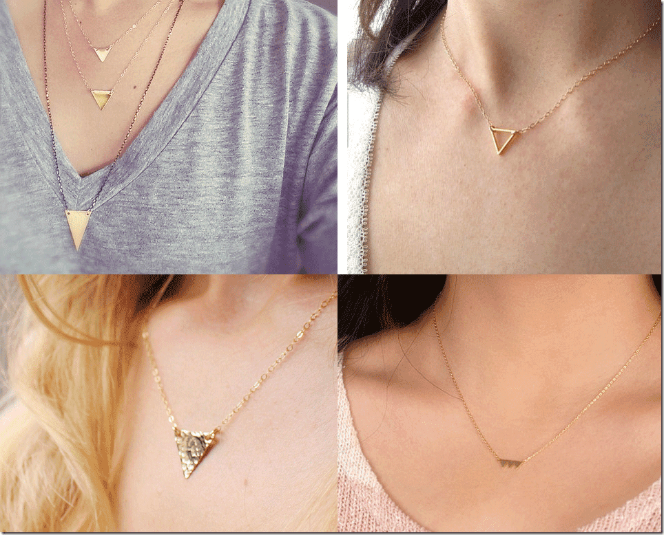 7 Geometric Chic Triangle Necklaces Fashion Inspiration