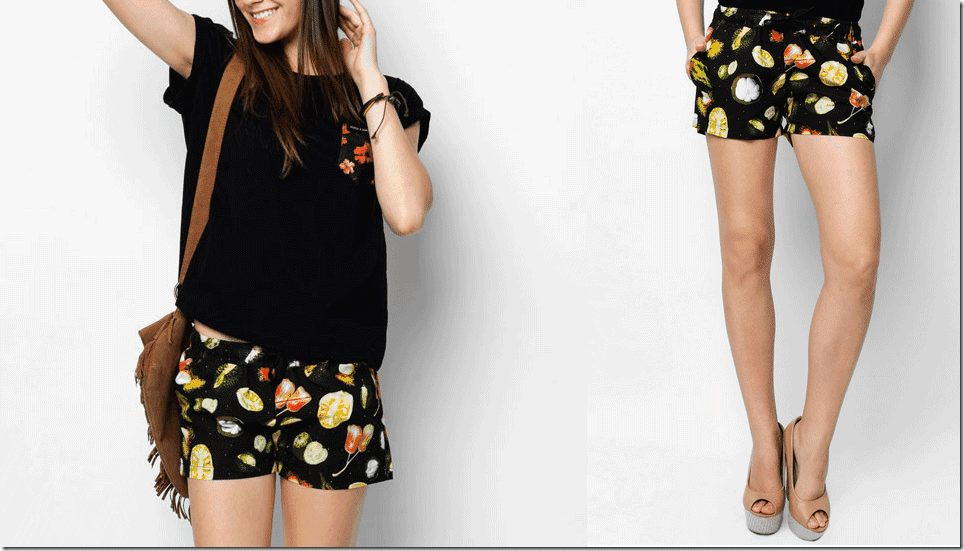 tropical-fruit-print-shorts