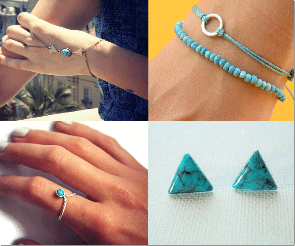 Turquoise Jewelry Trend Fashion Inspiration