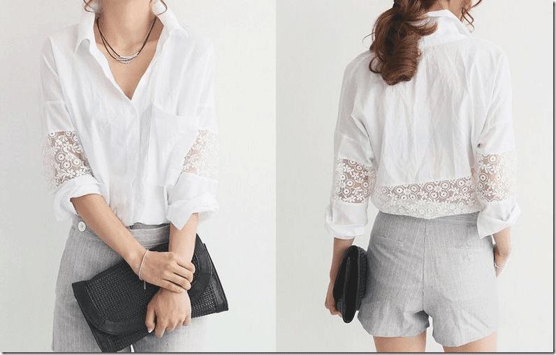 white-lace-insert-sleeve-shirt