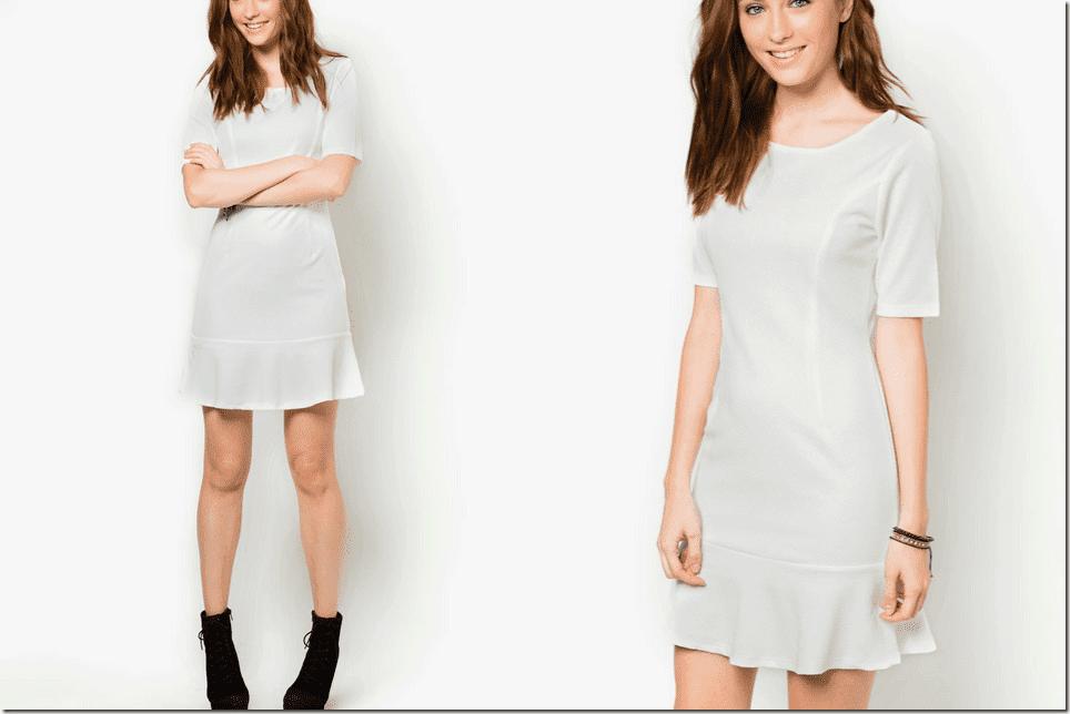 white-textured-drop-waist-dress