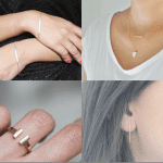 Fashionista NOW: Chic Gold Bar Jewelry Fashion Inspiration