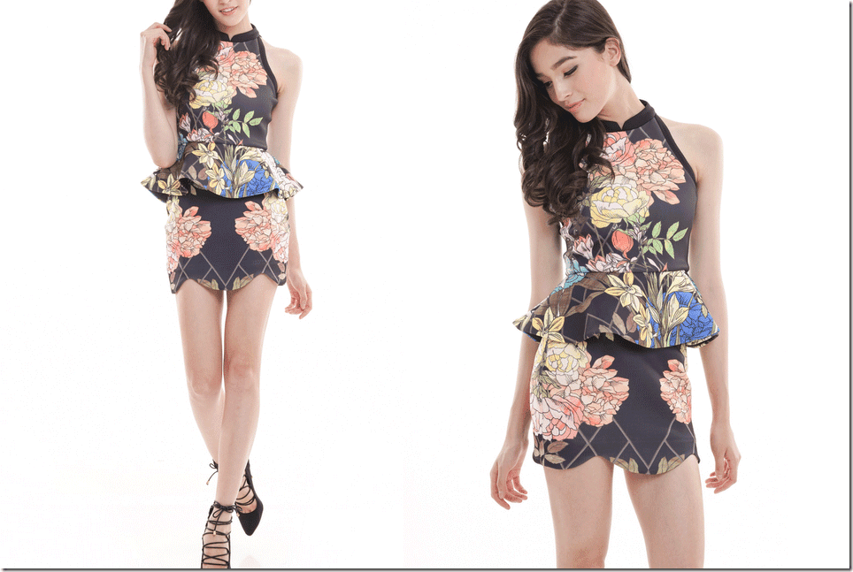black-floral-peplum-dress