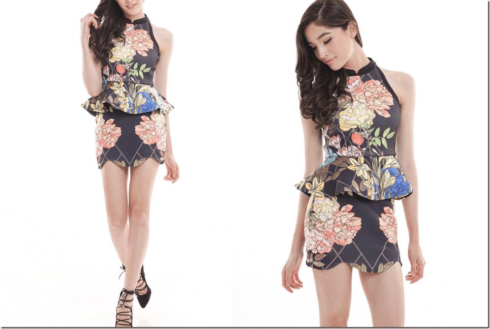 black-floral-peplum-dress